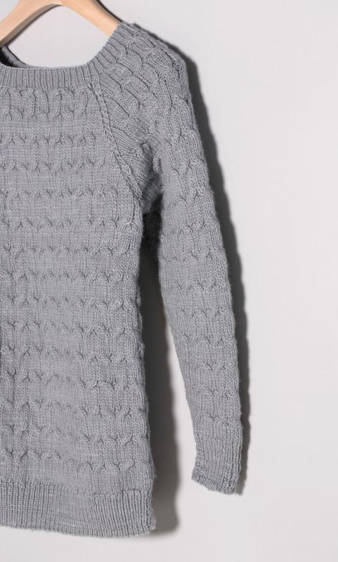 Merino-Pullover - handgestrickt