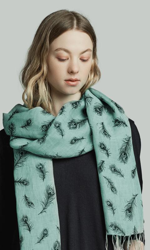 Leinen-Schal uni