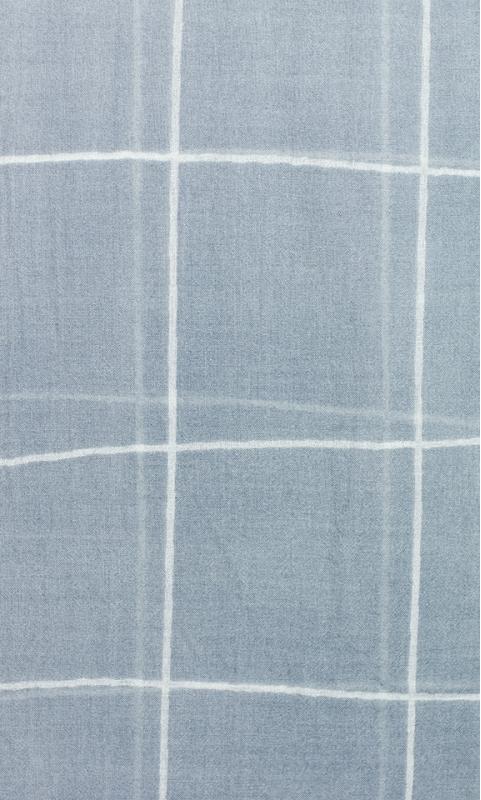 "Wool Scarf ""check"" - nude/grey-blue"