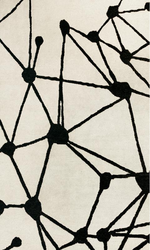 Kubus-Teppich handgeknüpft