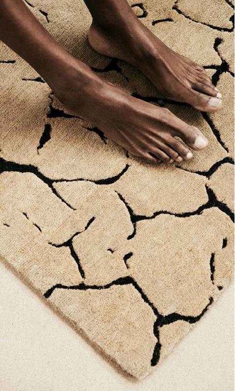 Erde-Teppich handgeknüpft