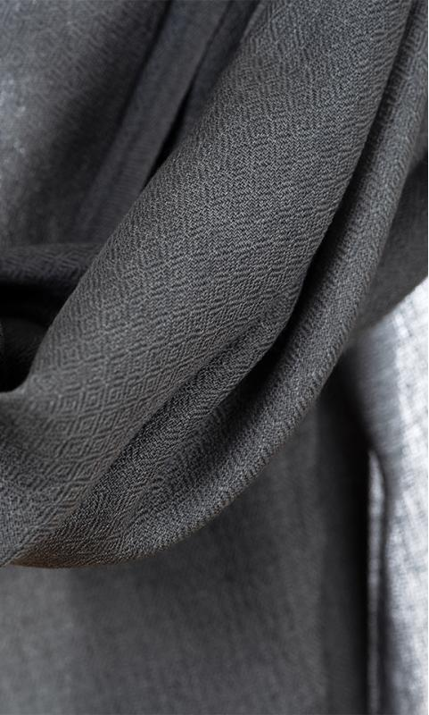 "Wool Scarf ""Diamond"" - brown/black/grey"