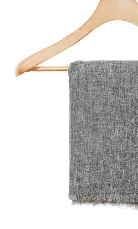 Kaschmir-Schal uni - beige/grau