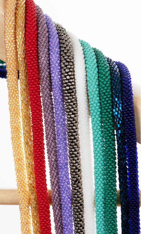 Handgehäkelte Halsketten